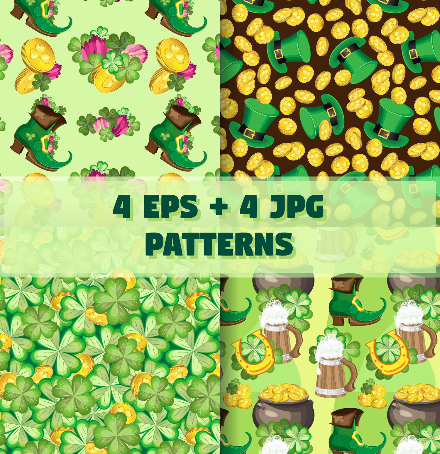 Set of elements for the st. Patrick`s Day example image 6