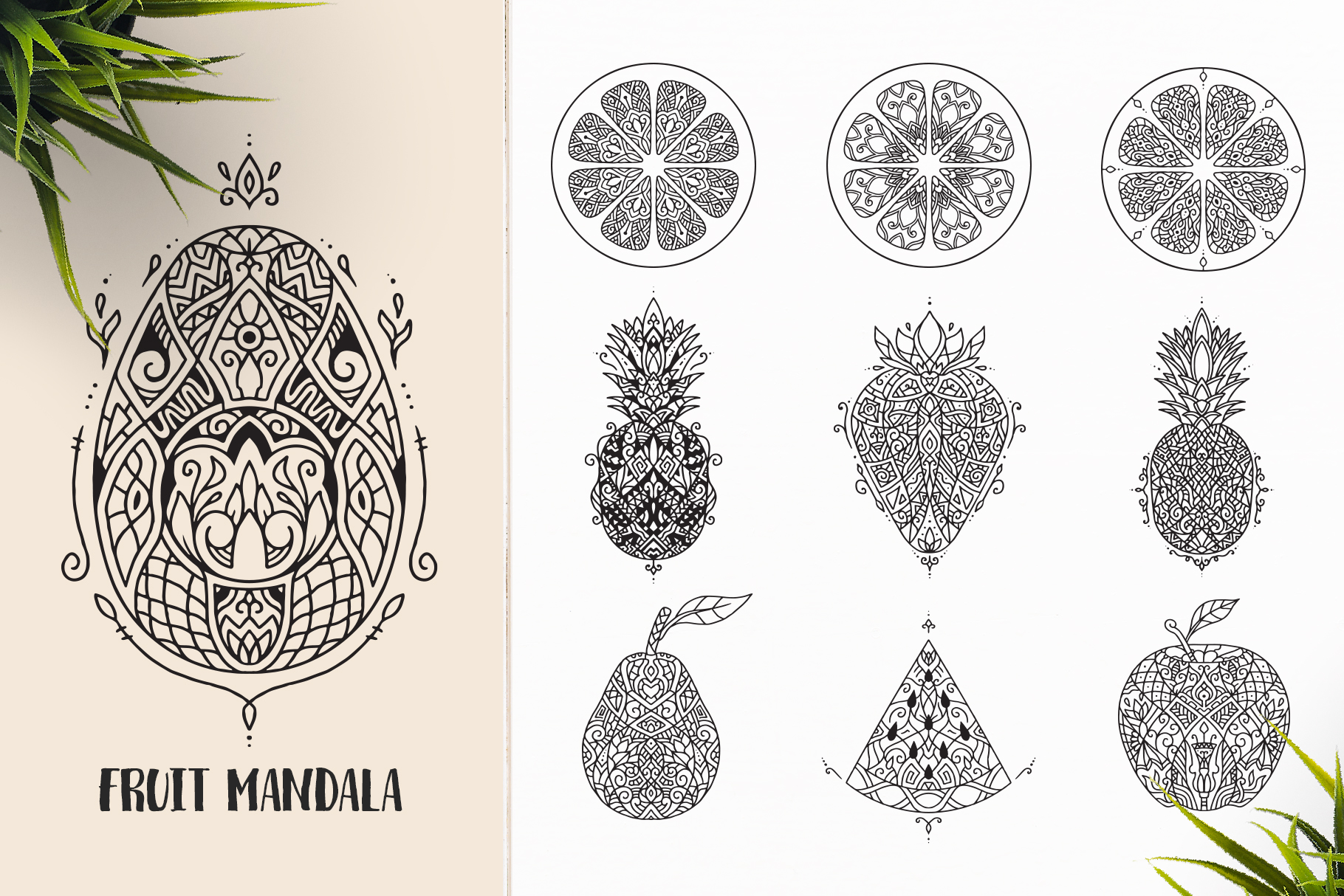 530 Vector Mandala Ornaments Bundle example image 10