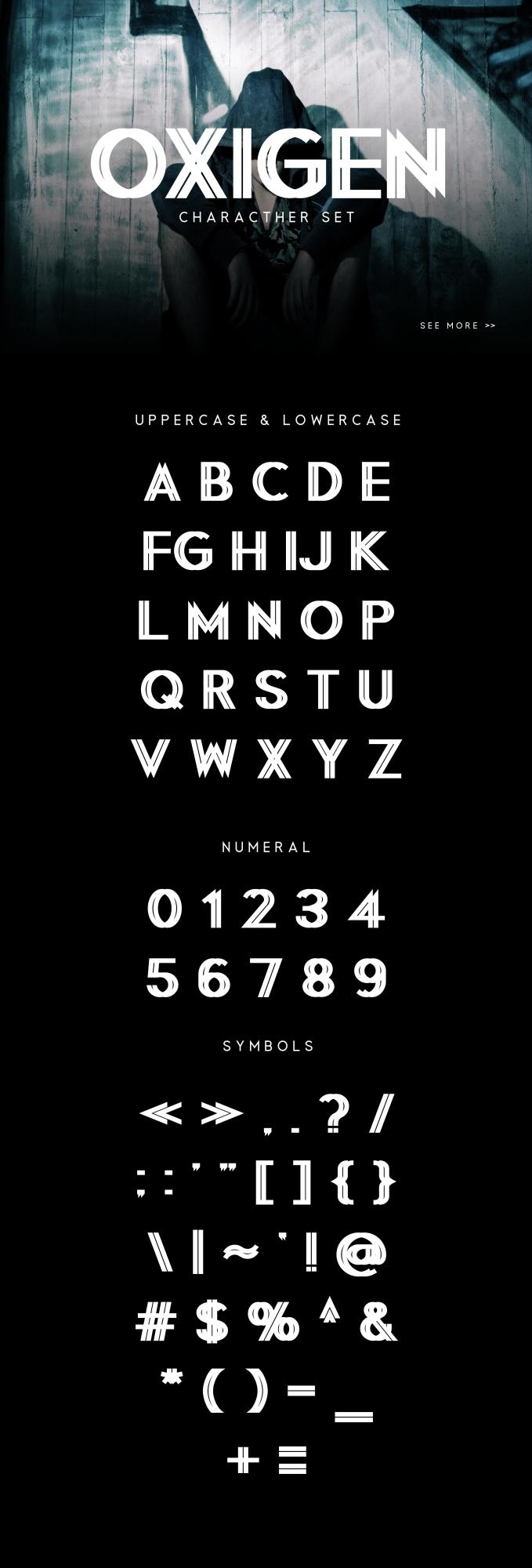 Oxigen | A Minimal Logo Typeface example image 5