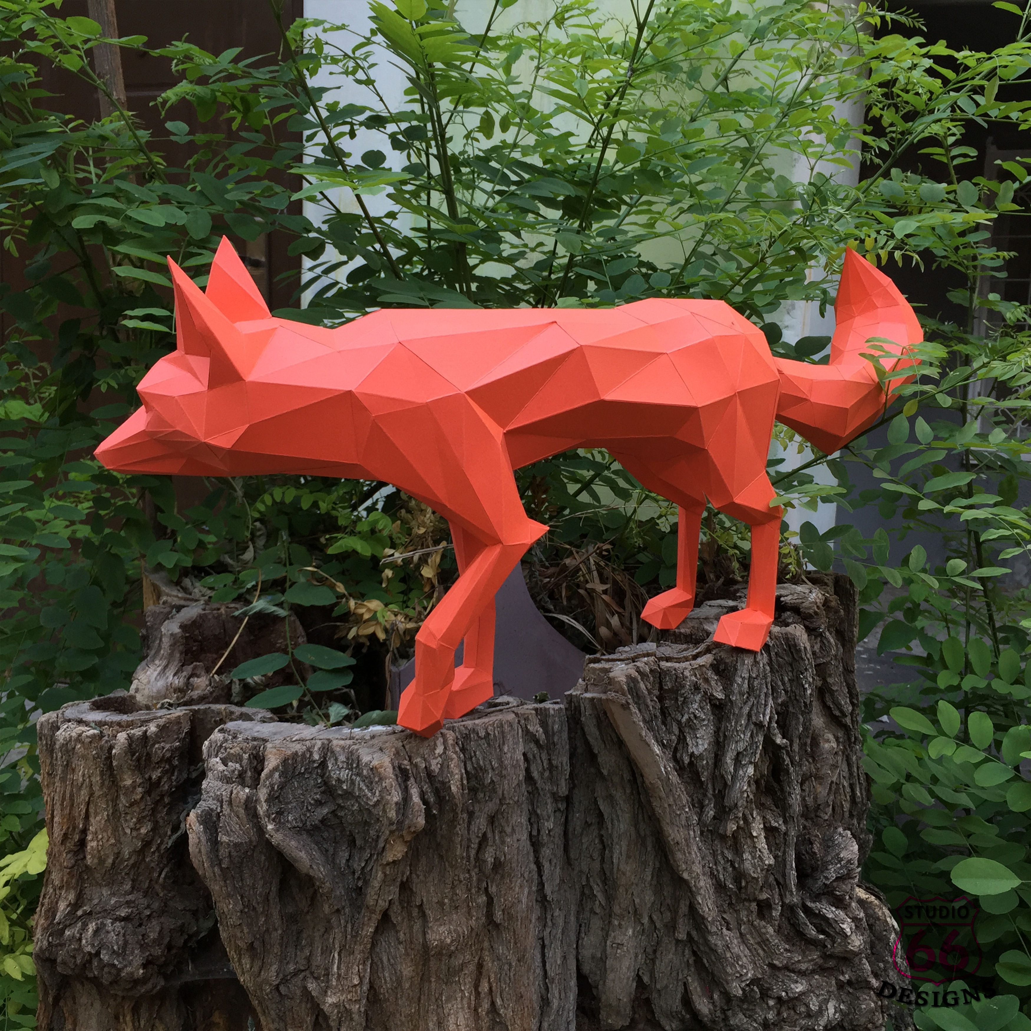 DIY Fox Papercraft, Red Fox, Fox Tail, Fox and Dogs, Fox Sculpture, Animal Trophy, Paper Animals, Home Decor, 3D origami, wild nature, foxy example image 4
