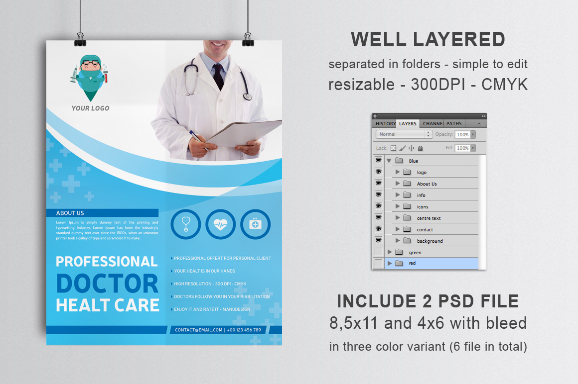 Professional Doctor Health Flyer example image 2