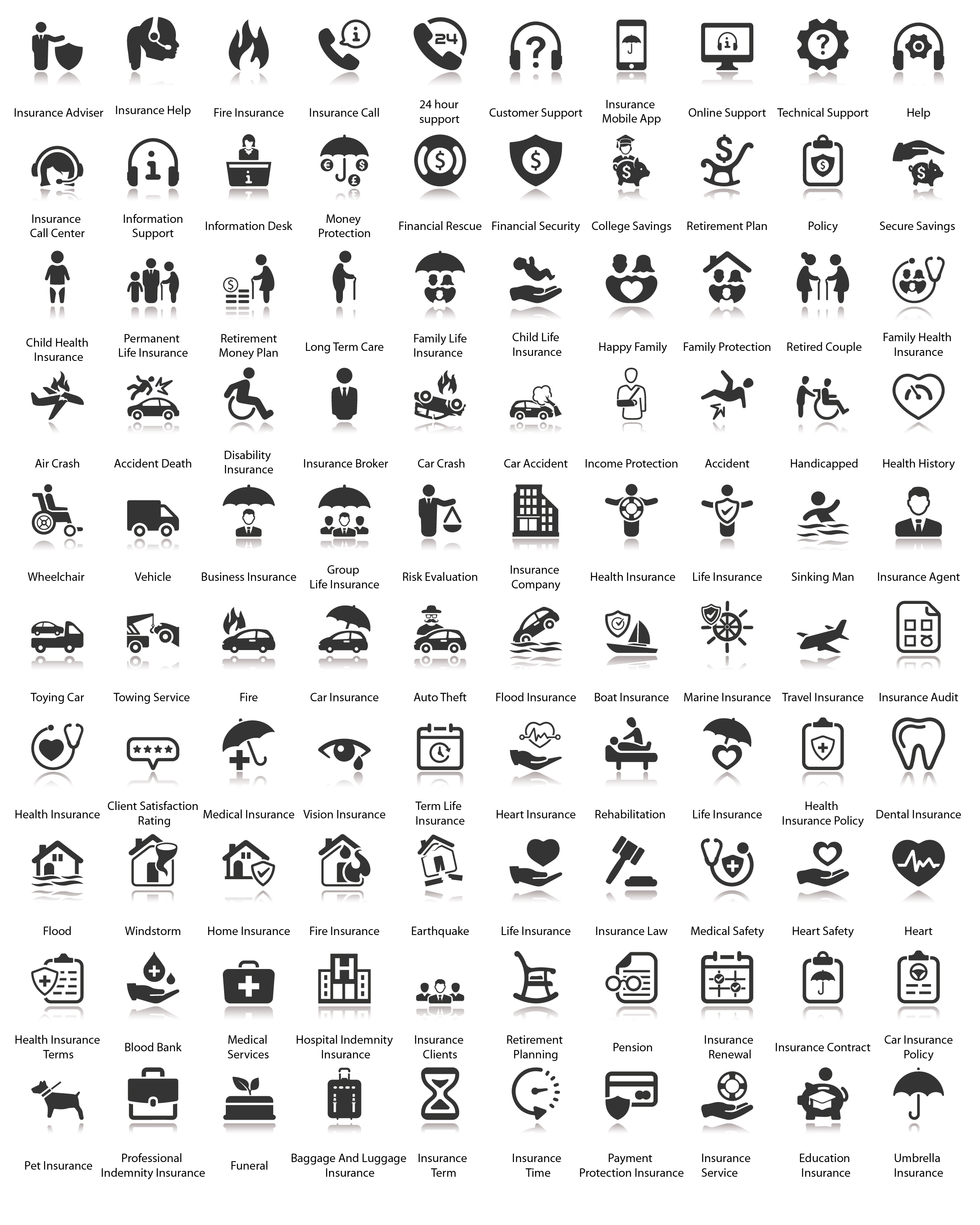 Insurance Icons - 100 Icons example image 3