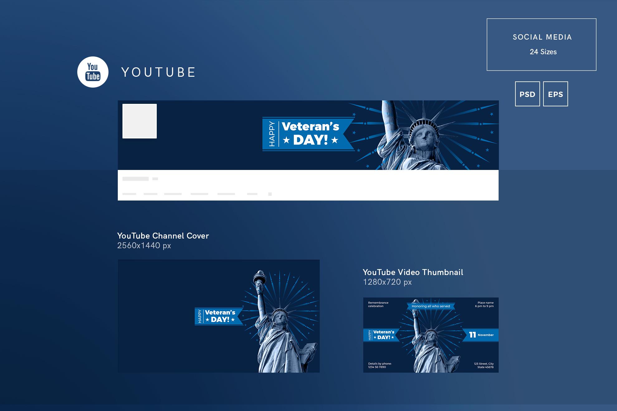 Veteran's Day Celebration Design Templates Bundle example image 7