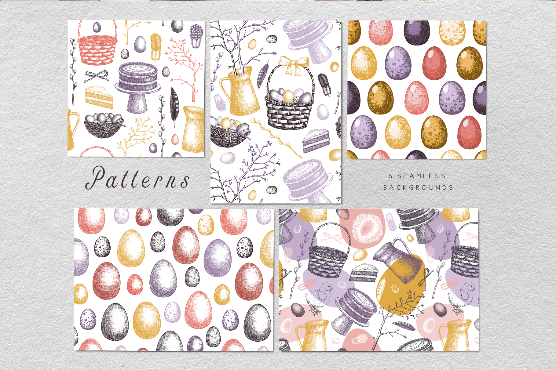 Hand Drawn Easter Design Elements example image 8
