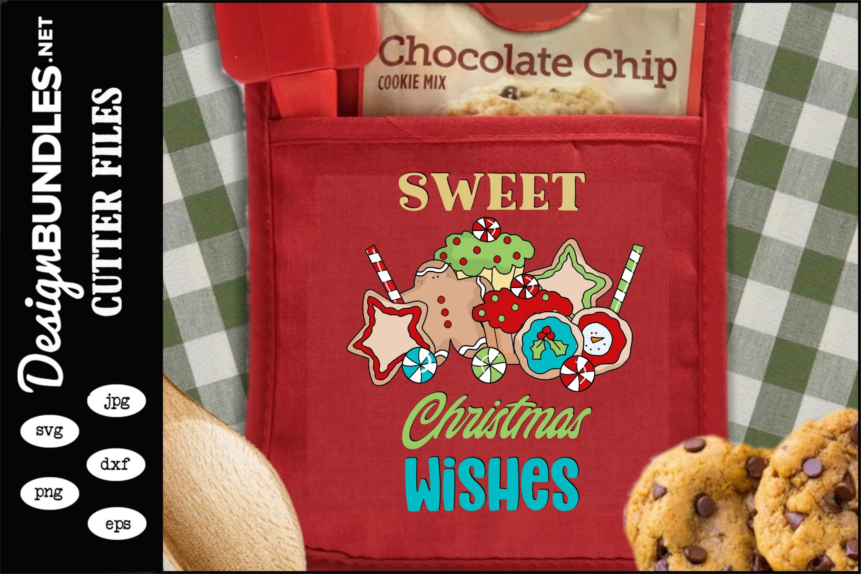 Sweet Christmas Wishes Sublimation Design example image 1