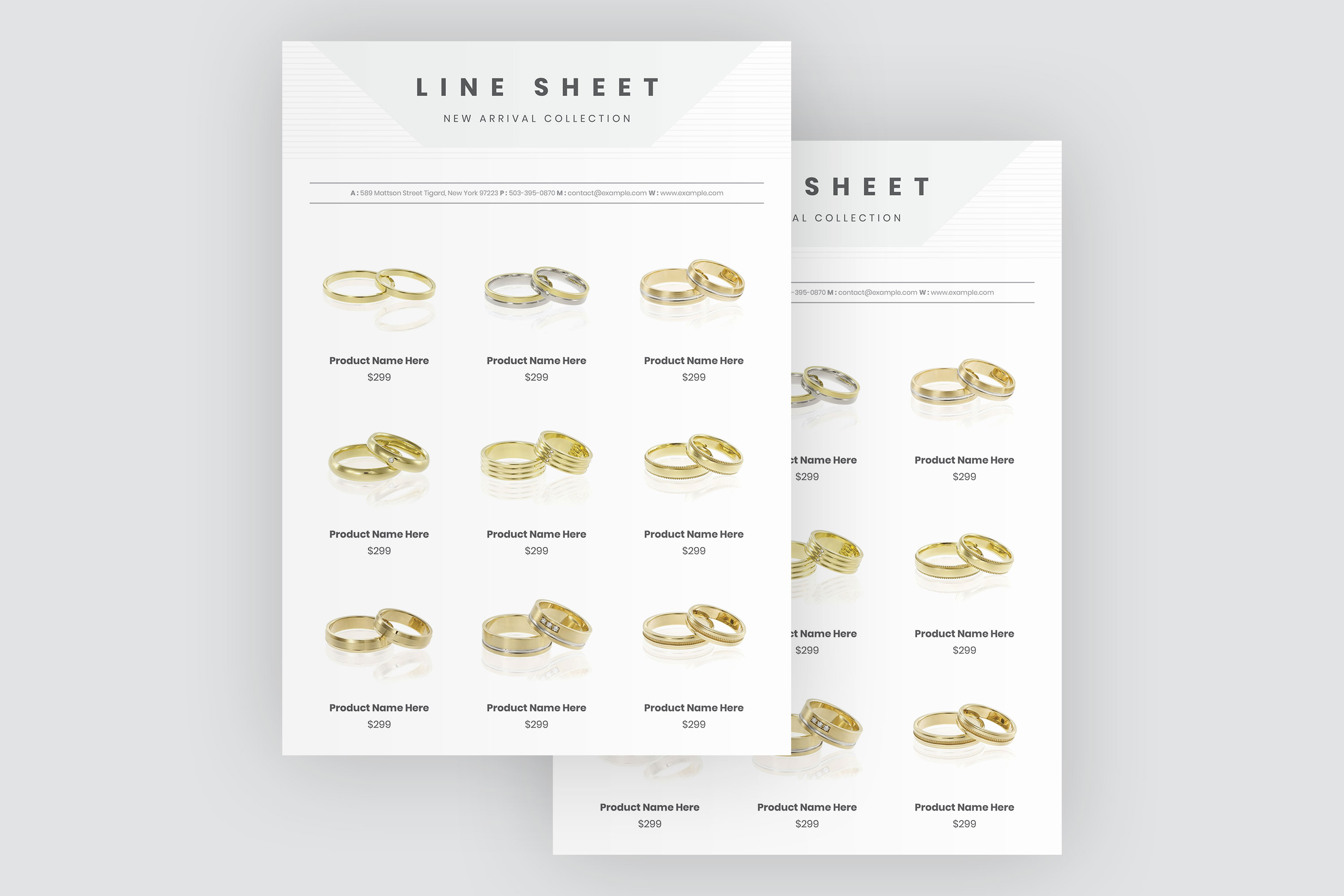 Jewelry Product Sale Flyer Template example image 4