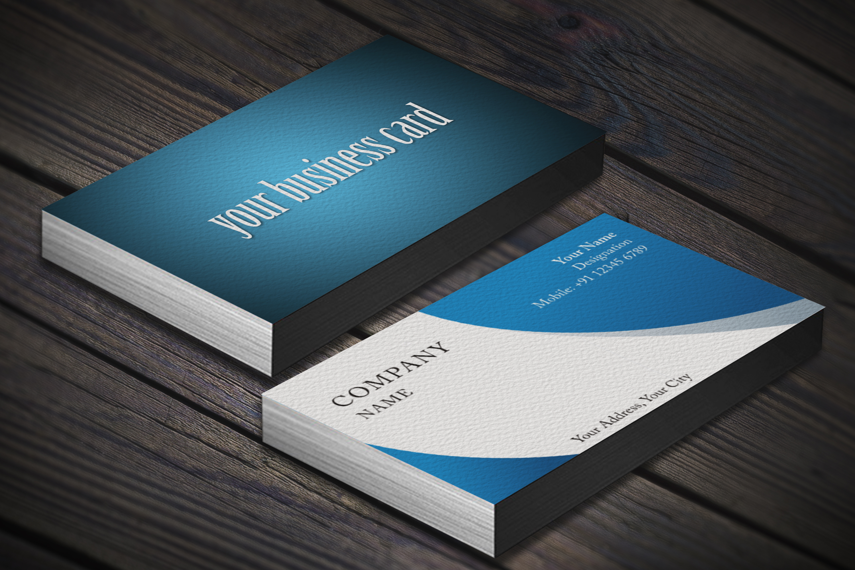 Photorealistic business card mockup set example image 4