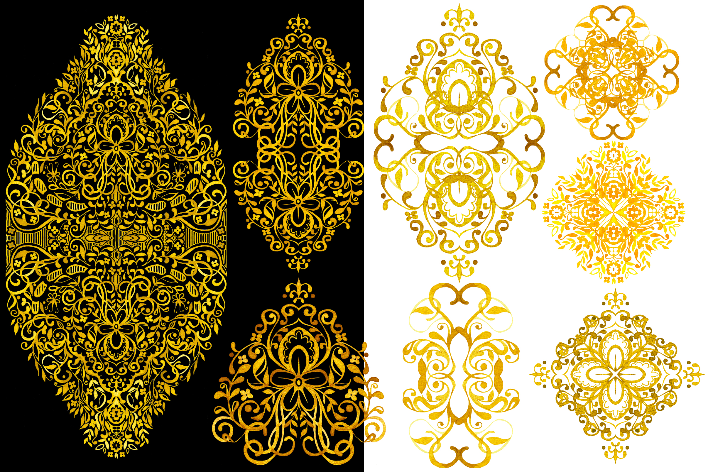 Hand Drawn Watercolor LACE example image 2