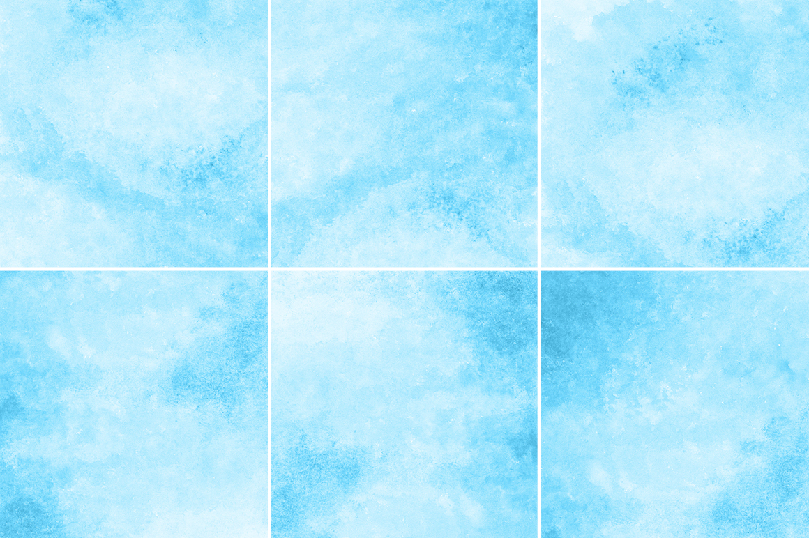 Bright Blue Watercolor Texture Backgrounds example image 3