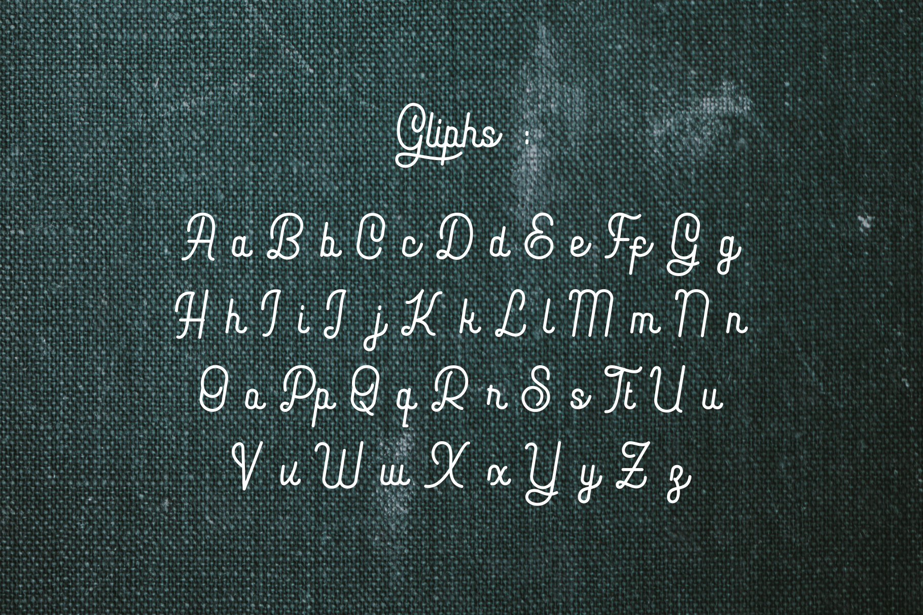 Hopkins monoline script example image 7