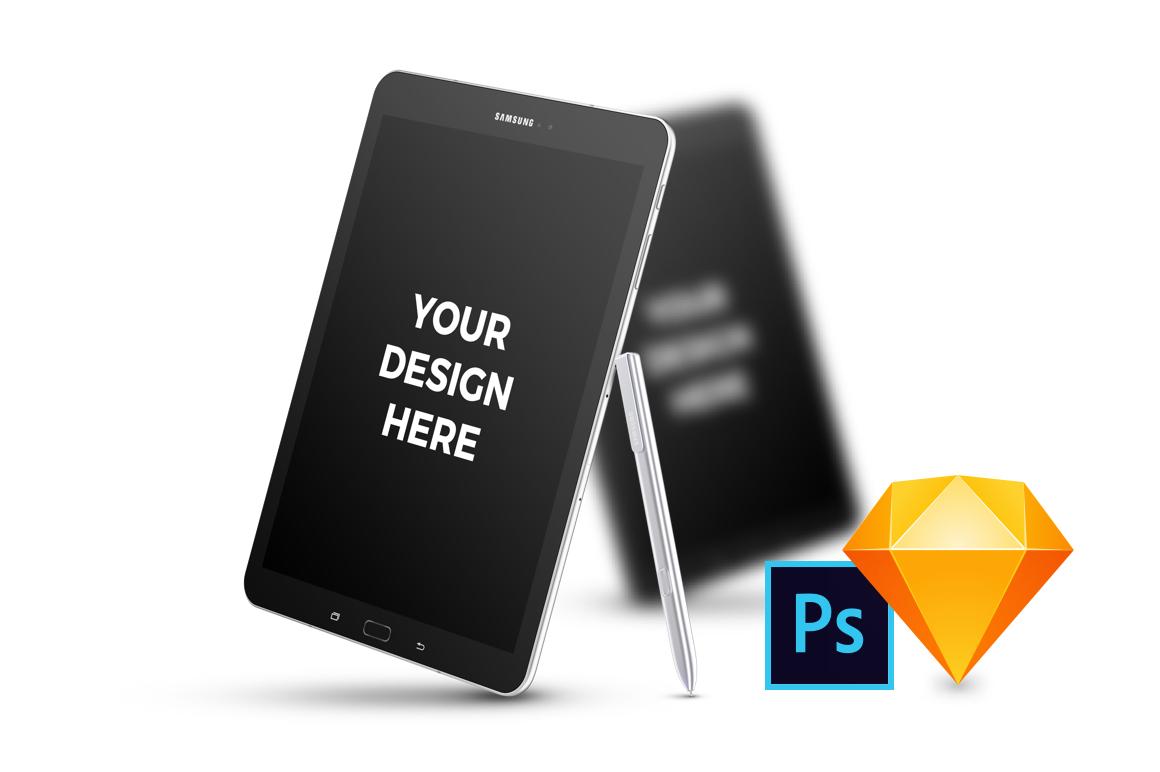14x Samsung Galaxy Tab S3 Mockups example image 1