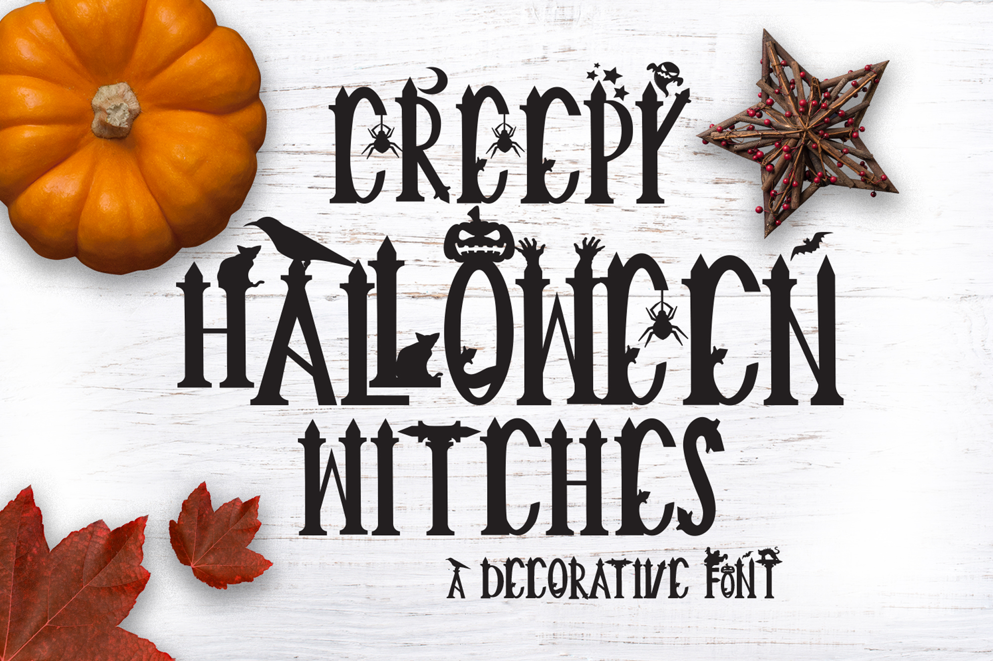 Creepy Halloween Font example image 1