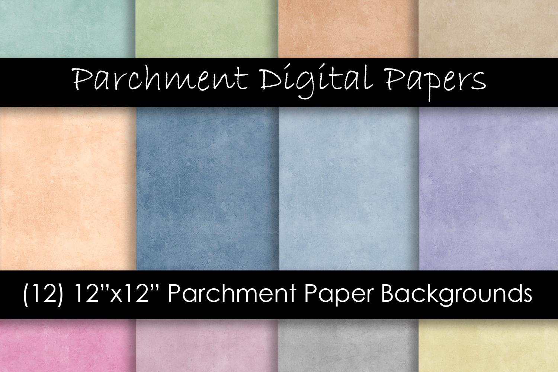 Parchment Paper Texture - Parchment Digital Paper Background example image 1
