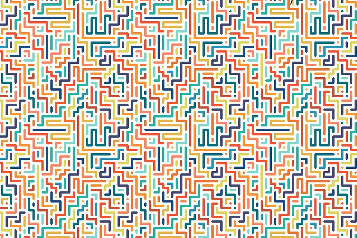 Colorful seamless striped patterns. example image 13