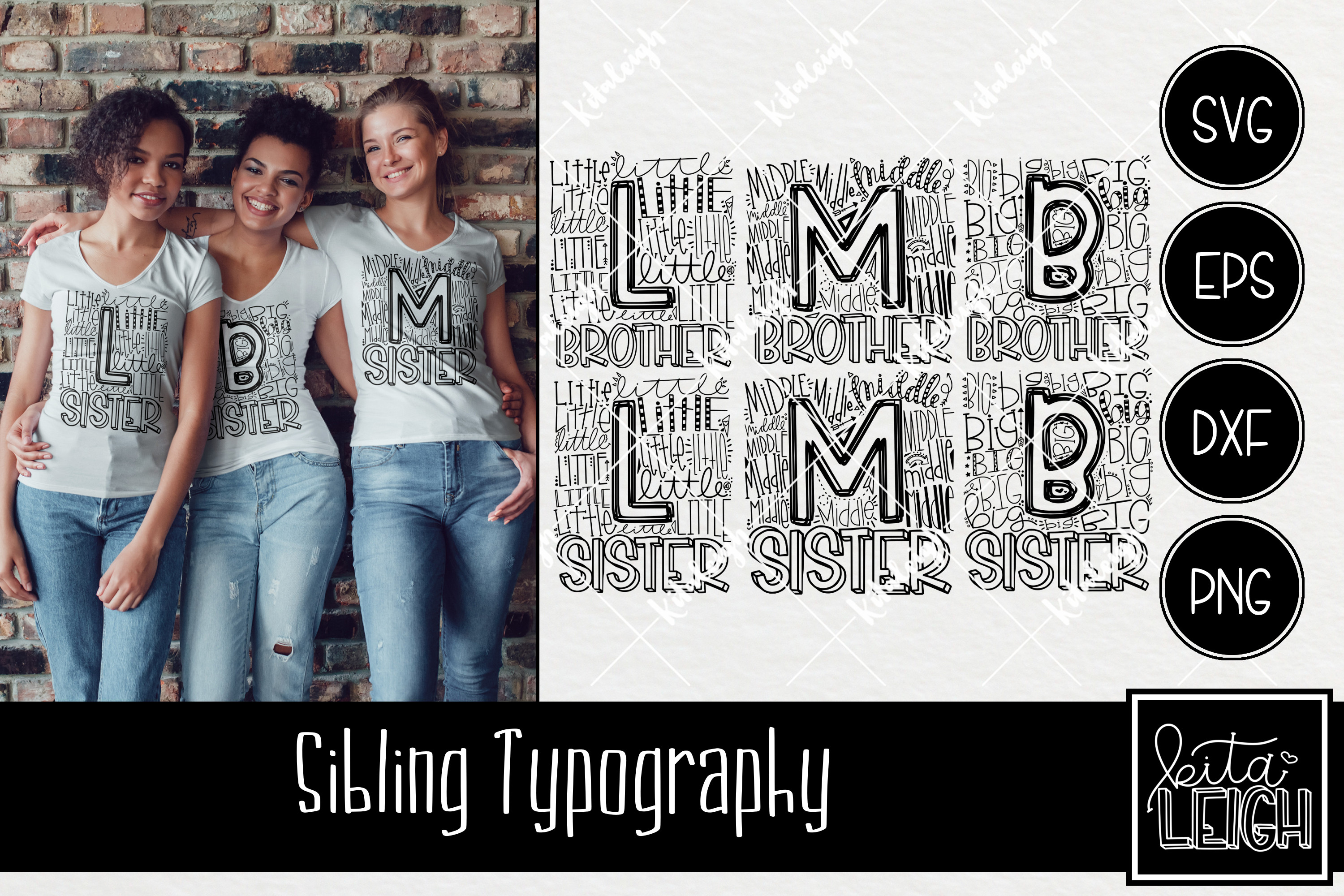 Sibling Typography Bundle example image 1