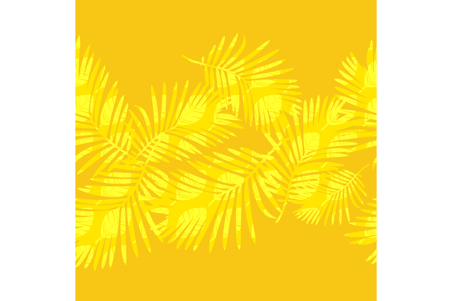 Tropical palm leaves. Set of 10 seamless patterns. example image 7
