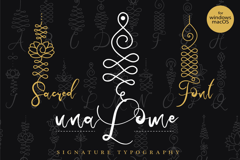 Unalome Sacred Font example image 1