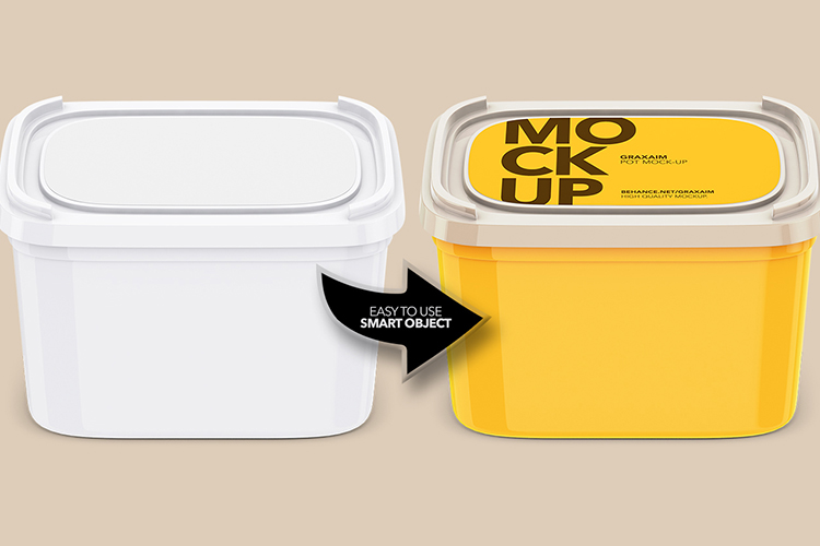 Plastic Container - Label - High Angle example image 3