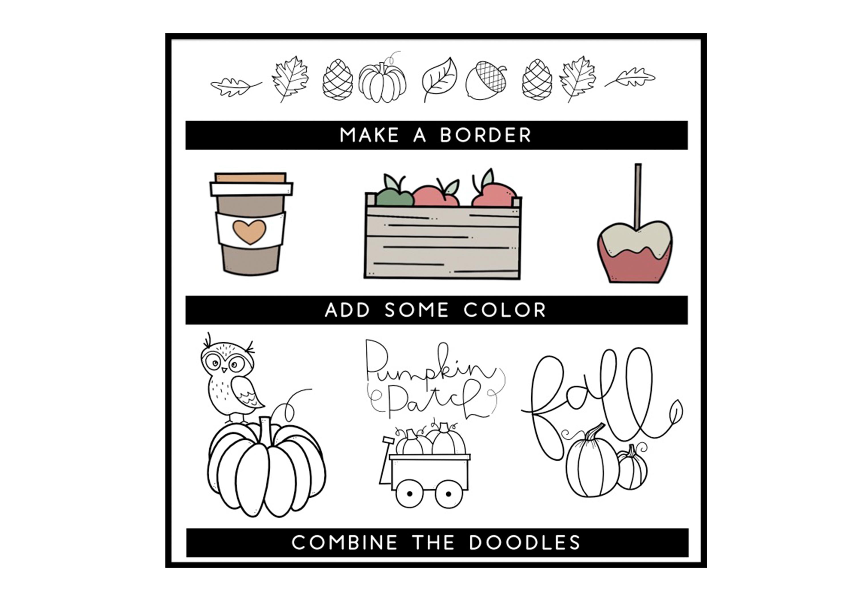 Fall Fun - A Fall / Autumn Doodles Font example image 2