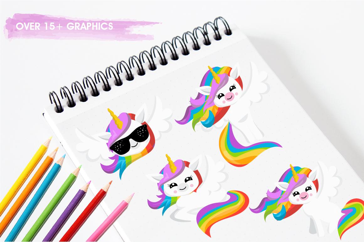 Rainbow Unicorns graphics and illustrations example image 3