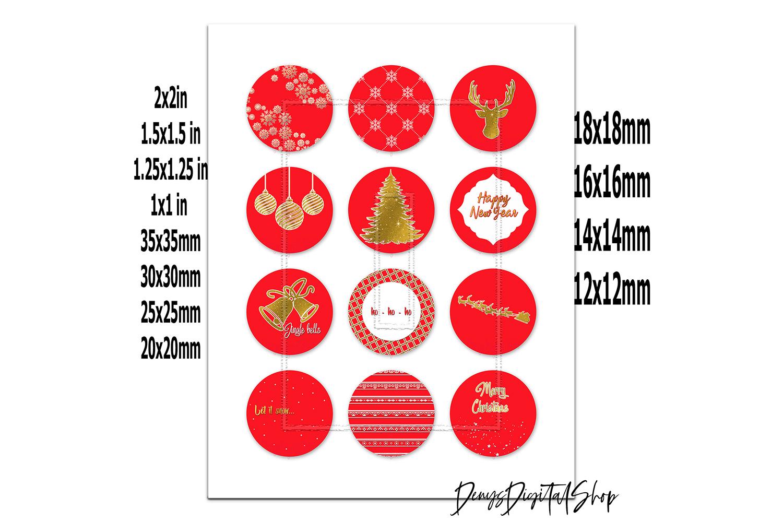 Happy New Year Images,Digital Circles,Holiday Image,Prints example image 2