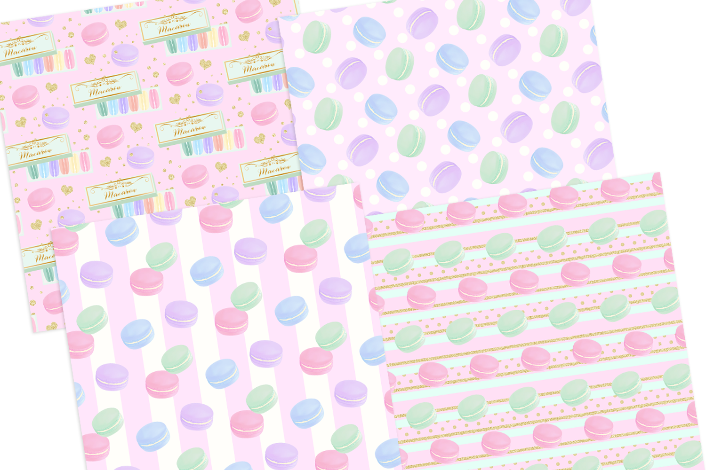 Macaron Digital Papers Seamless Pattern example image 3