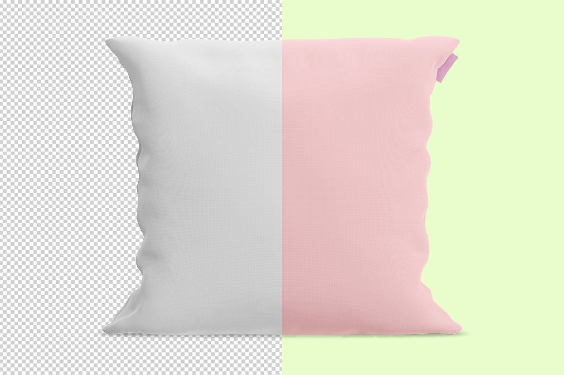 Square pillow mockup. Front view. Product mockup. example image 3