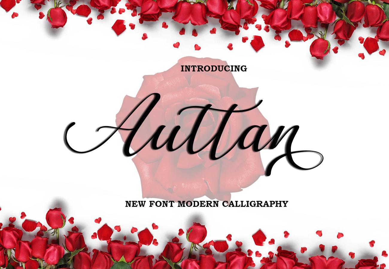 Auttan Script Calligraphy Font example image 3