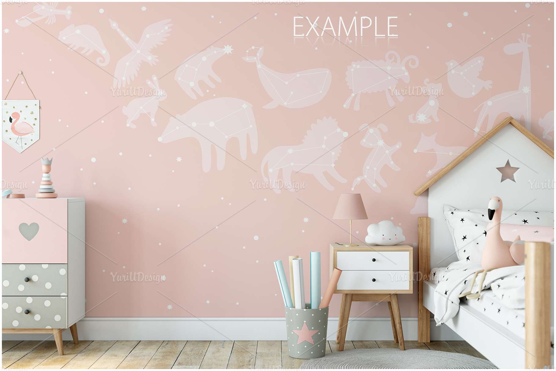 Kids Frames & Wall Mockup Bundle - 5 example image 18