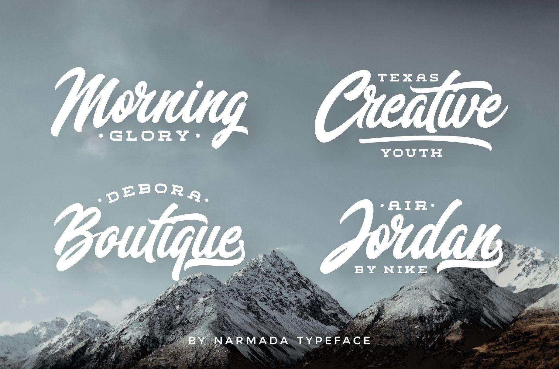 Narmada Typeface example image 3