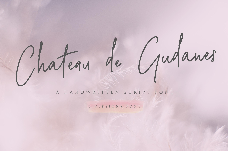 Chateau de Gudanes • 2 Elegant Fonts example image 1