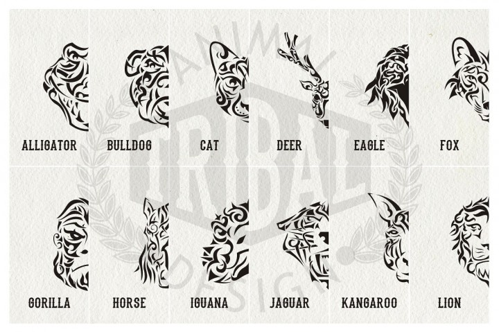 Animal Tribal Design | from A to L example image 2