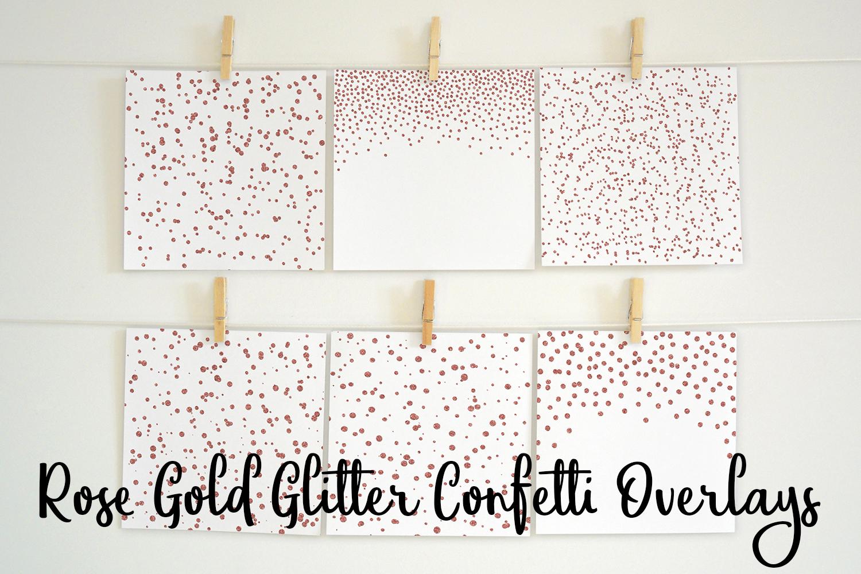 Rose Gold Glitter Confetti Overlays example image 2