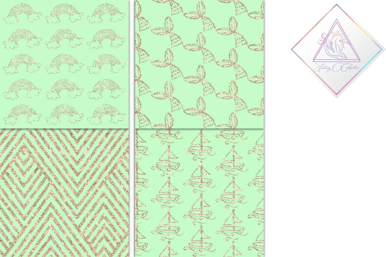 Mint & Copper Digital Paper example image 3