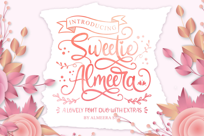 Sweetie Almeera Font Duo example image 1