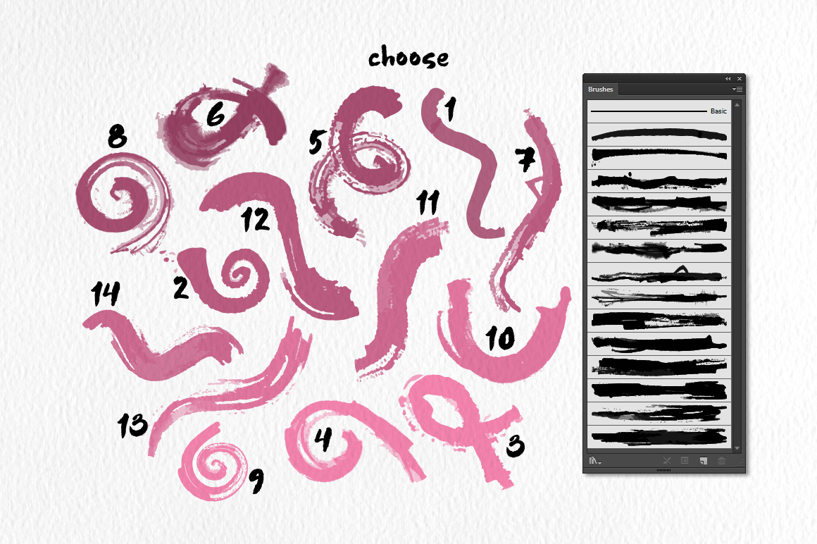 Strike Brushes for Illustrator example image 2
