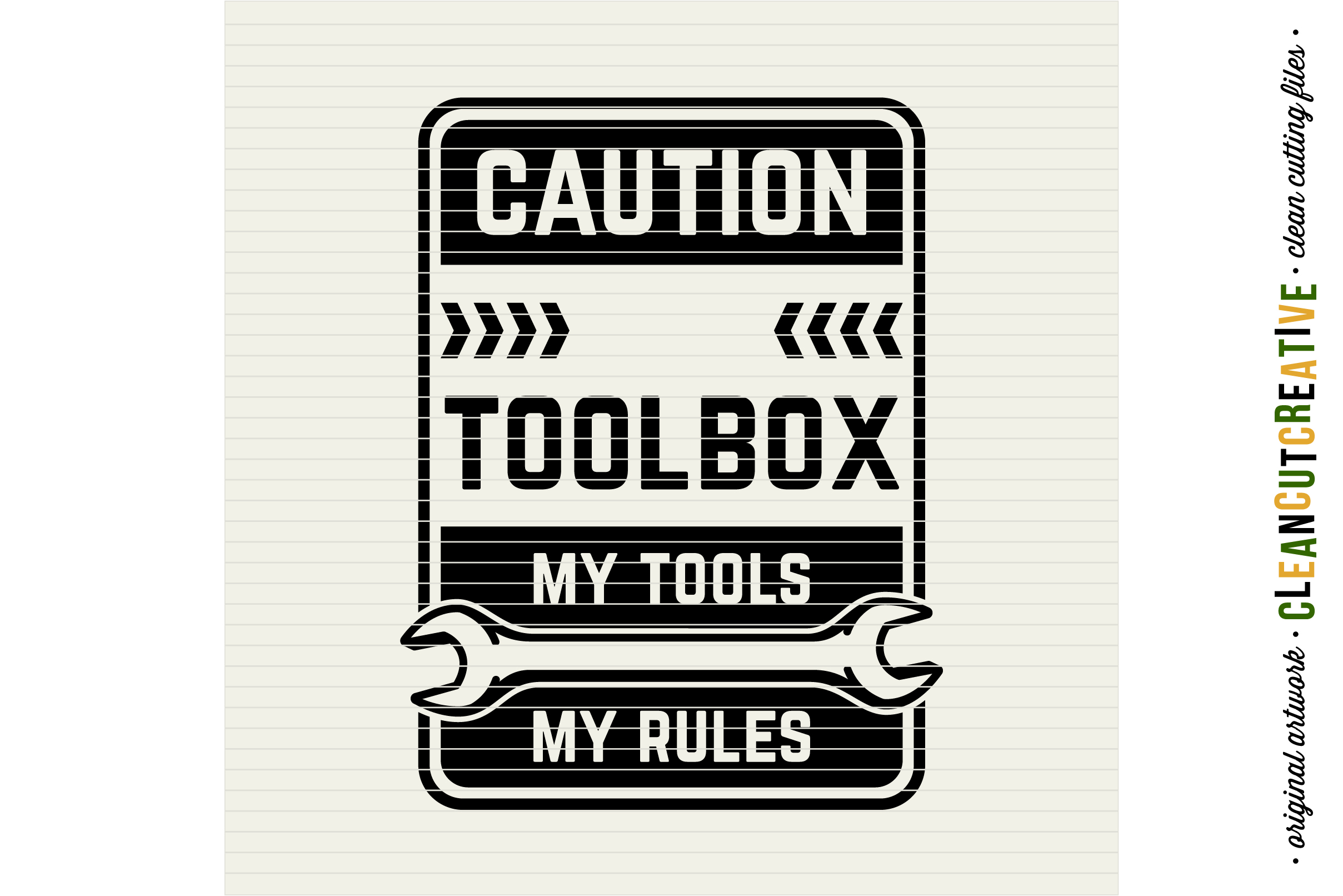 Mens Toolbox custom name decal - My Tools My Rules SVG file example image 3