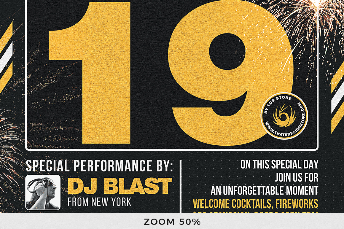 New Year Flyer Template V6 example image 7