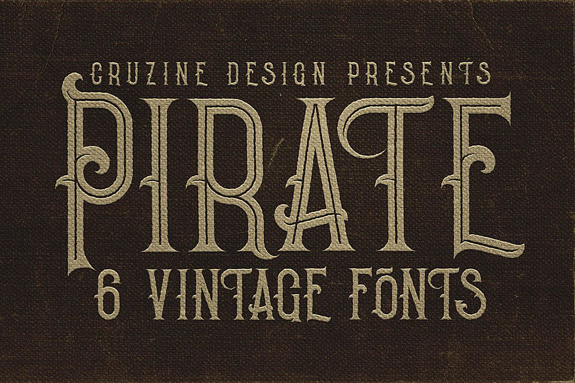 Pirate- Vintage Style Font example image 5