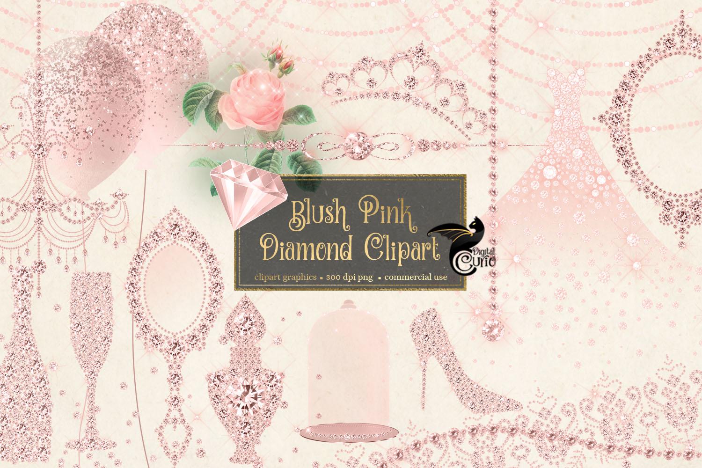 Blush Pink Diamond Clipart example image 2