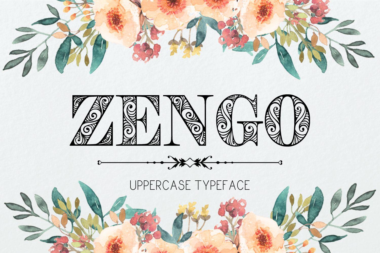 Zengo font example image 1
