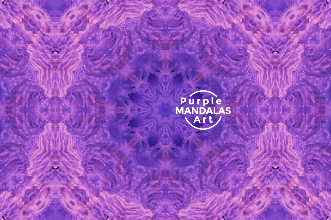 Purple MANDALAS Art example image 10