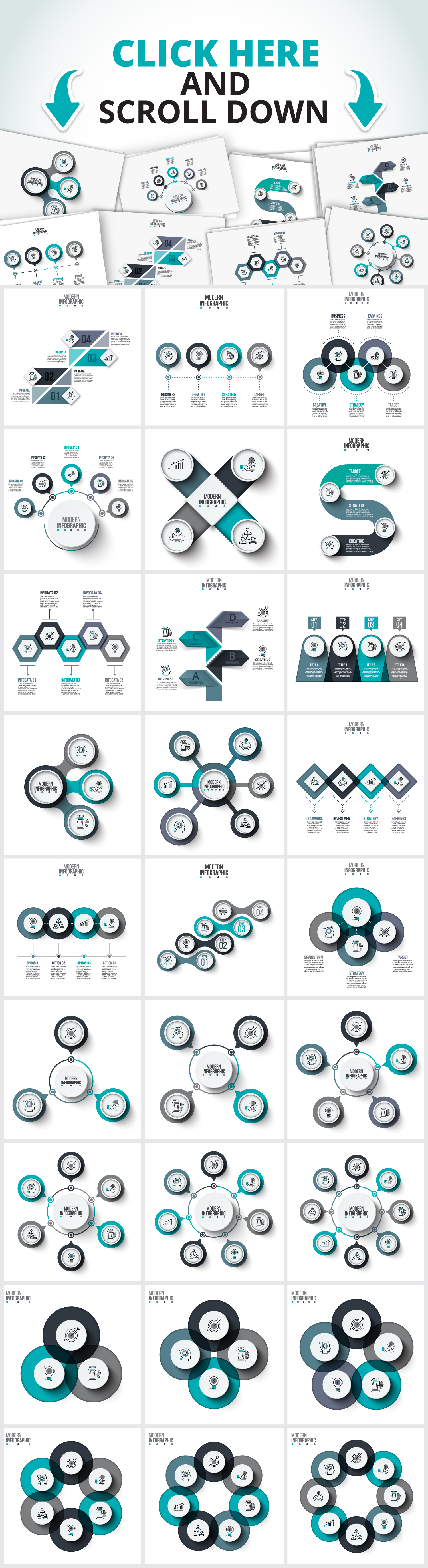 Modern infographic templates example image 3