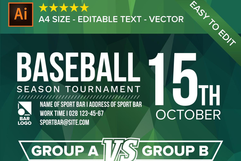 Baseball Poster Vector example image 3