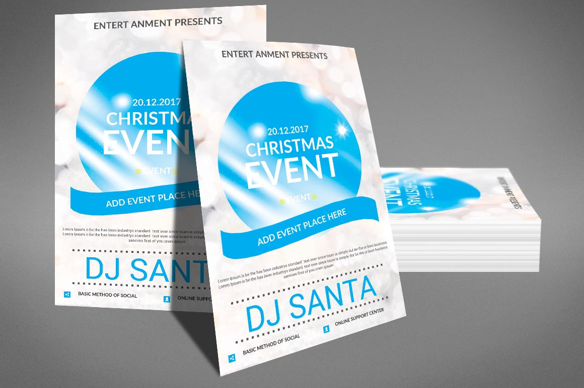 Christmas Event Poster Template example image 2