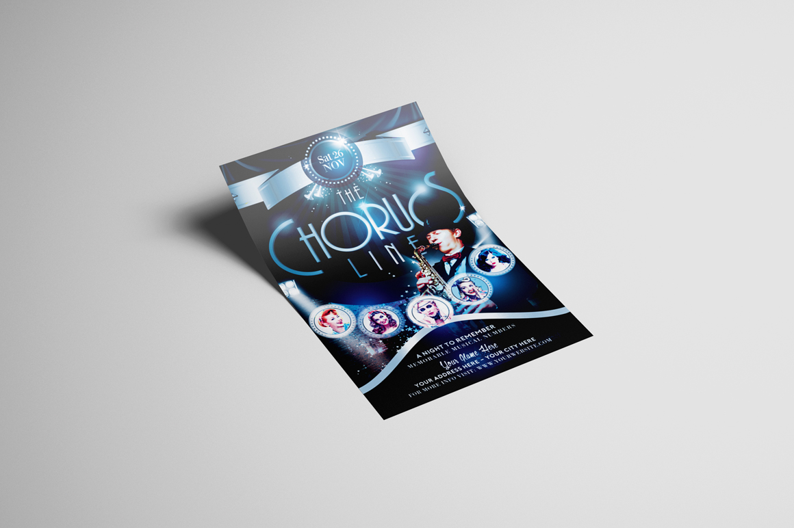 The Chorus Line Flyer Template example image 2