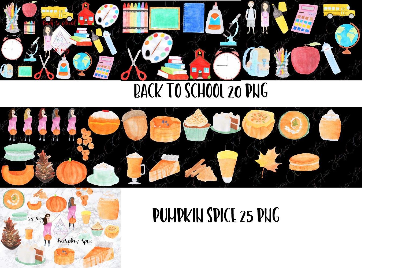 Watercolor Handdrawn BUNDLE example image 7