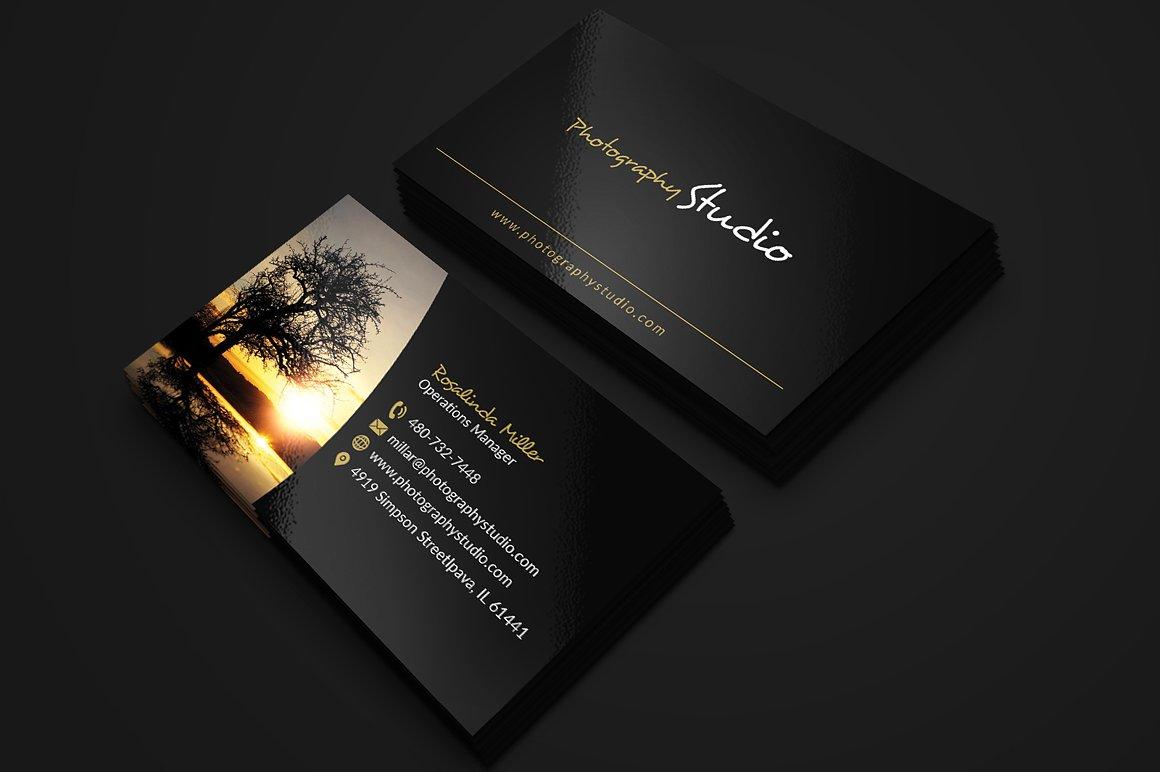 business card fancy cart example designer follow