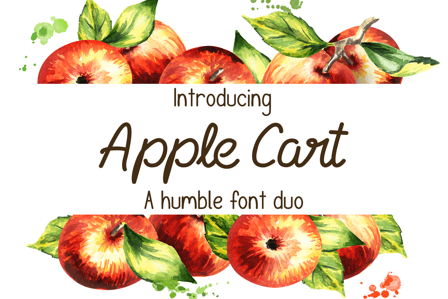 Apple Cart Font Duo example image 1