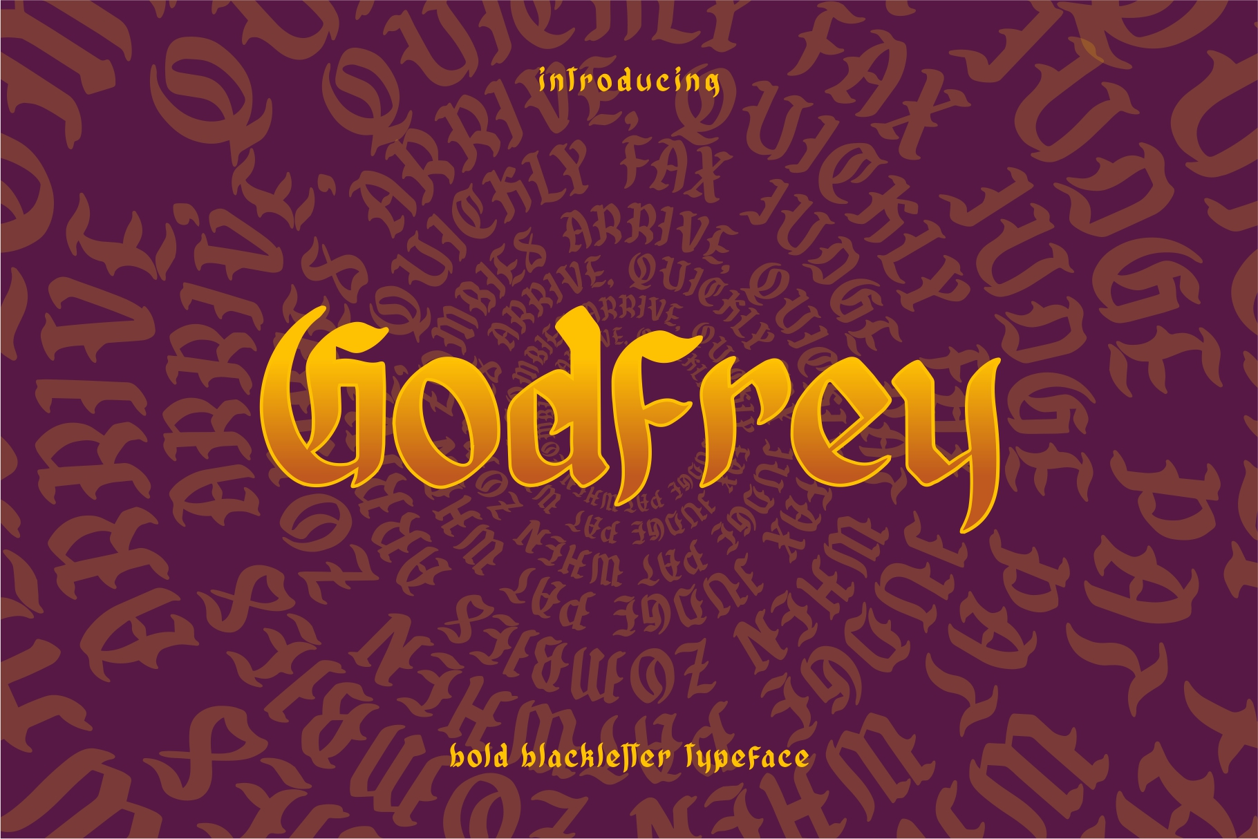 GODFREY - Blackletter example image 1